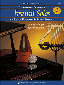 Pearson and Elledge - Standard of Excellence: Festival Solos, Book 2 (w/CD) - Baritone B.C.