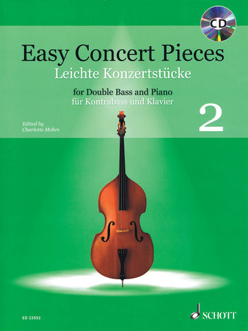 Mohrs, ed. – Easy Concert Pieces 2 (w/CD) – Contrabass and Piano