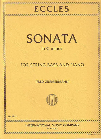 Eccles, ed. Zimmermann - Sonata in G Minor - Bass and Piano