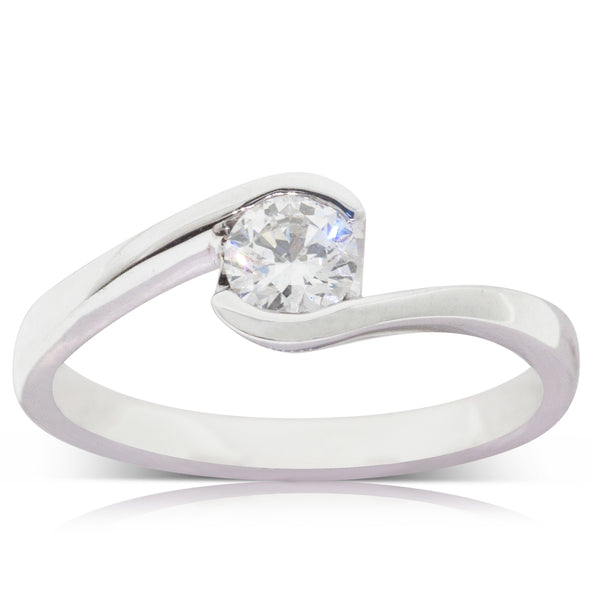 18ct White Gold .40ct Diamond Embrace Ring - Walker & Hall