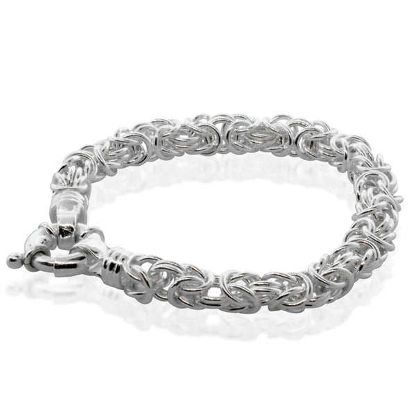 Sterling Silver Byzantine Bracelet - Walker & Hall