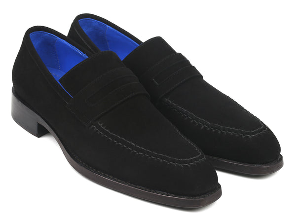 Paul Parkman Black Suede Goodyear Welted Loafers (ID#38AX95)