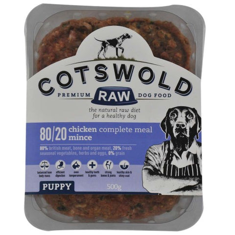CW Minced Chicken Puppy range 500g Cotswold Raw SKU MIN1105