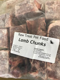 RT  Lamb Chunks/Cubes Raw Treat Brand 1KG