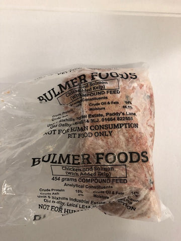 Raw Minced Chicken & Salmon 454g BULMERS PET FOOD