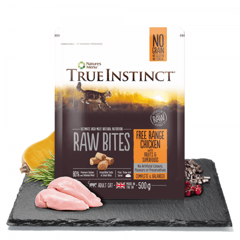 NM True Instinct Cat Raw Bites Free Range Chicken 500g Natures Menu  SKU: TIBICC