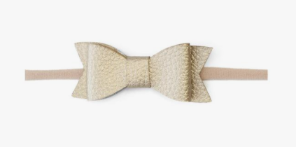 Baby Bling Leather Tie Skinny Bow - Precious + Posh