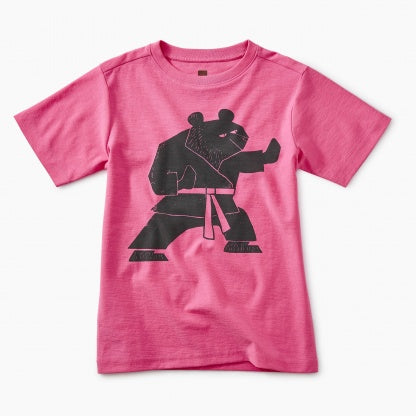 Tea Collection Martial Arts Bear Graphic Tee Sweet Pea