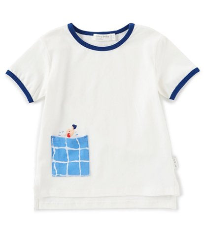 Miles Baby Swimming Pool Pocket Knit Tee