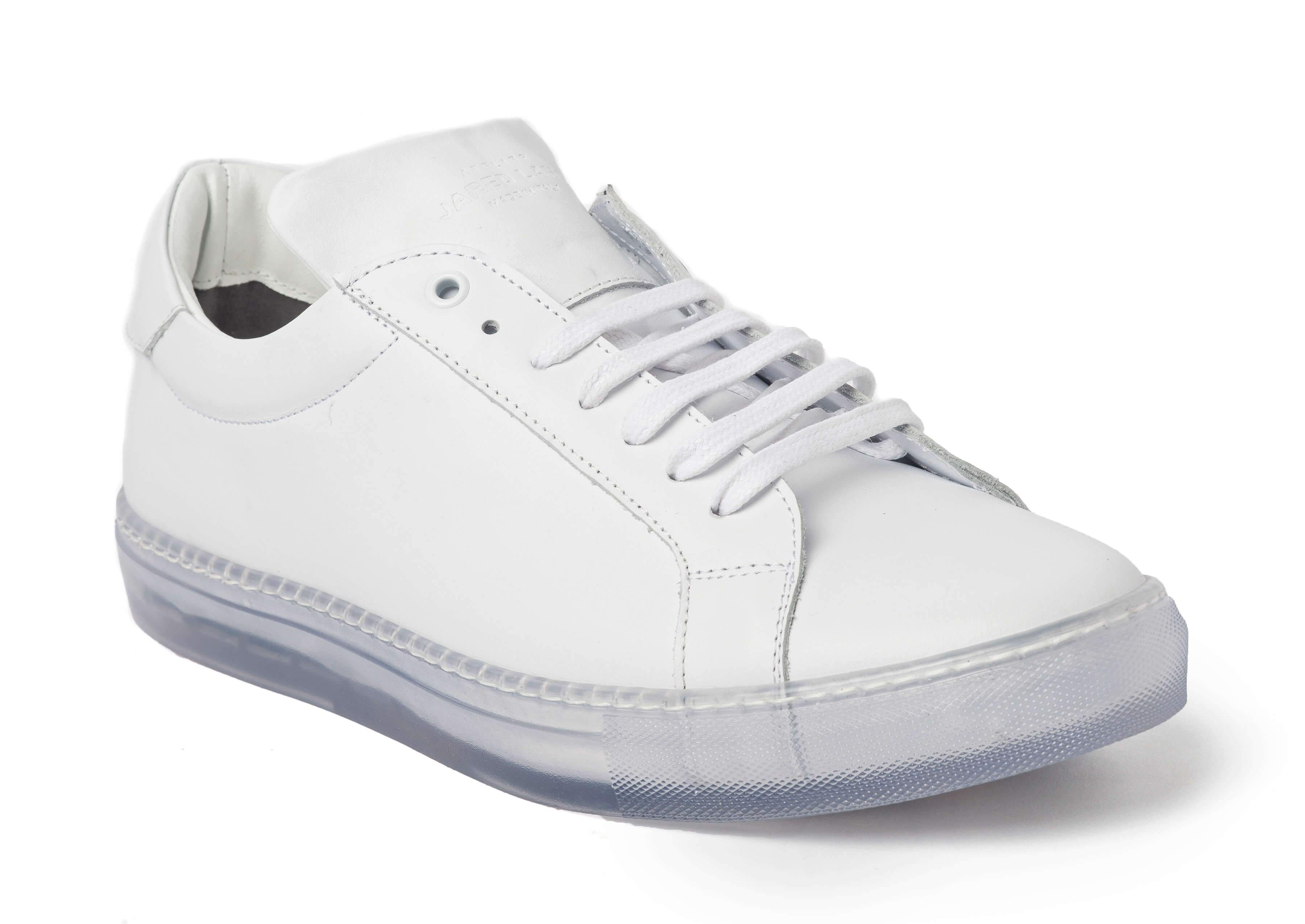 White Clear Sole Sneakers for Men - Main 1818-CRW - Jared Lang