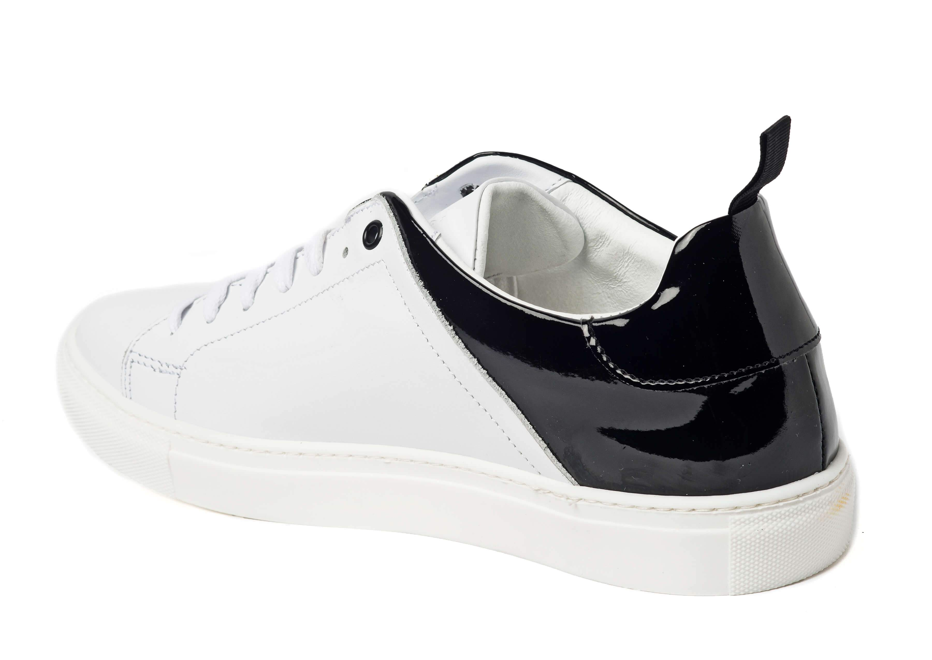 White Black Sneakers for Men - Left 3838-WHB - Jared Lang