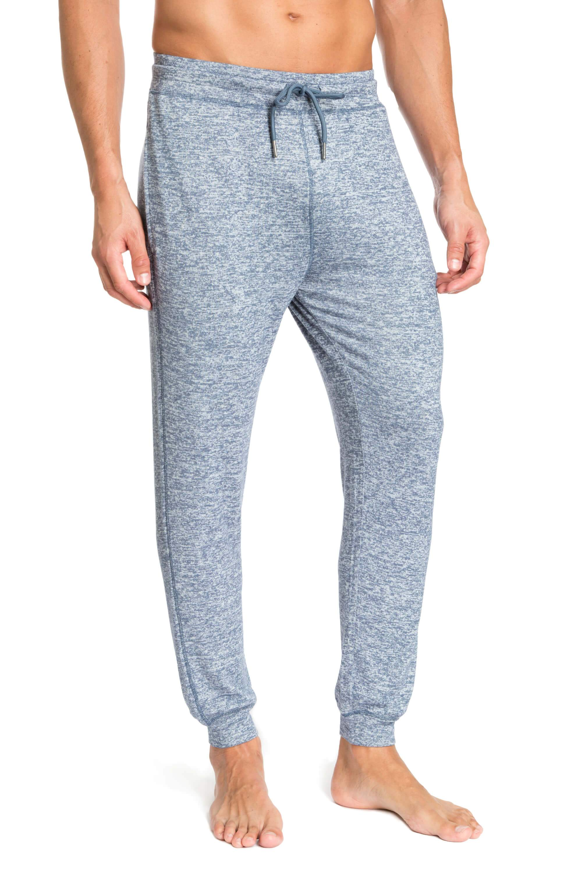 Light Blue Melange Designer Joggers for Men JLJGR1-400 - Front - Jared Lang