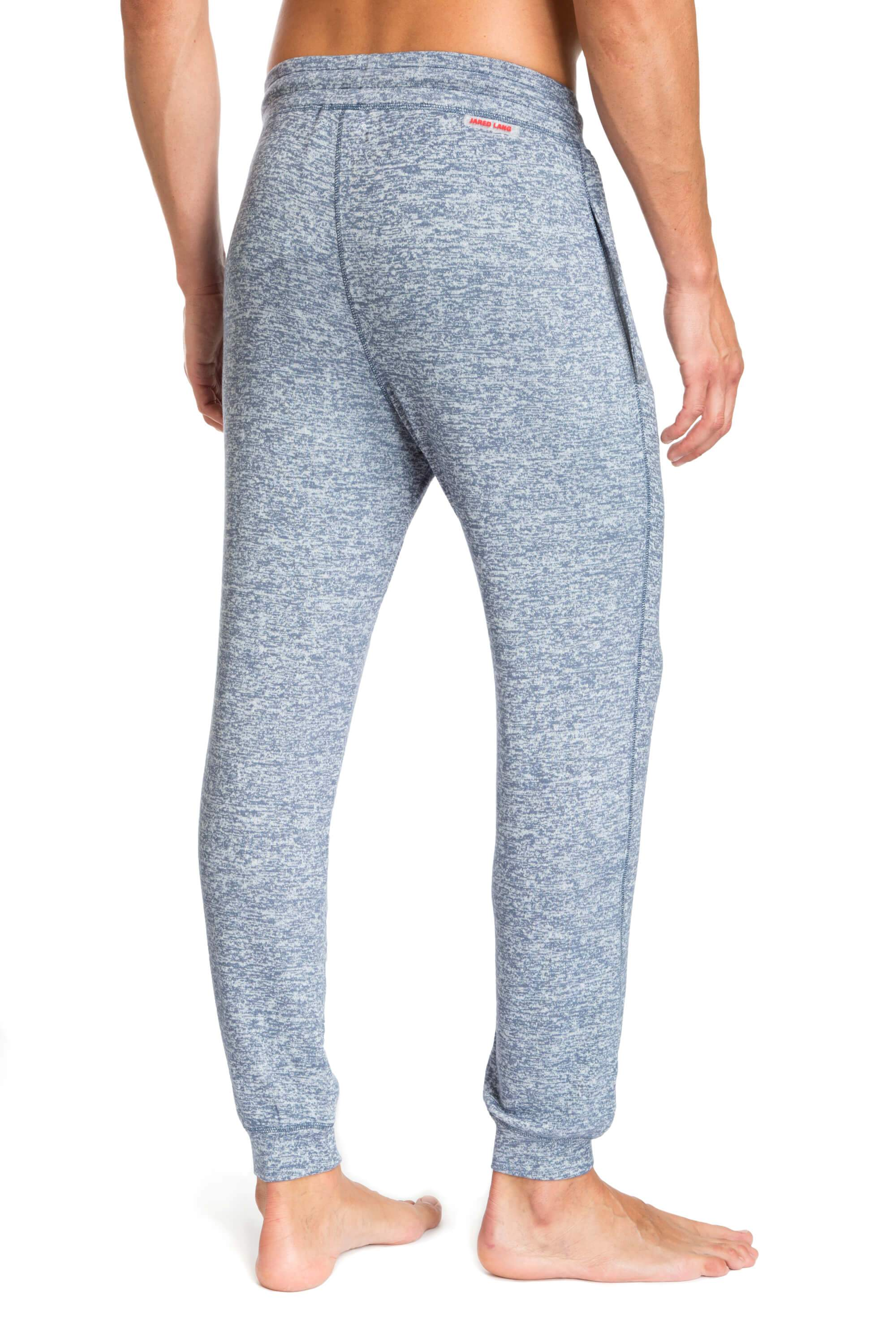 Light Blue Melange Designer Joggers for Men JLJGR1-400 - Back - Jared Lang