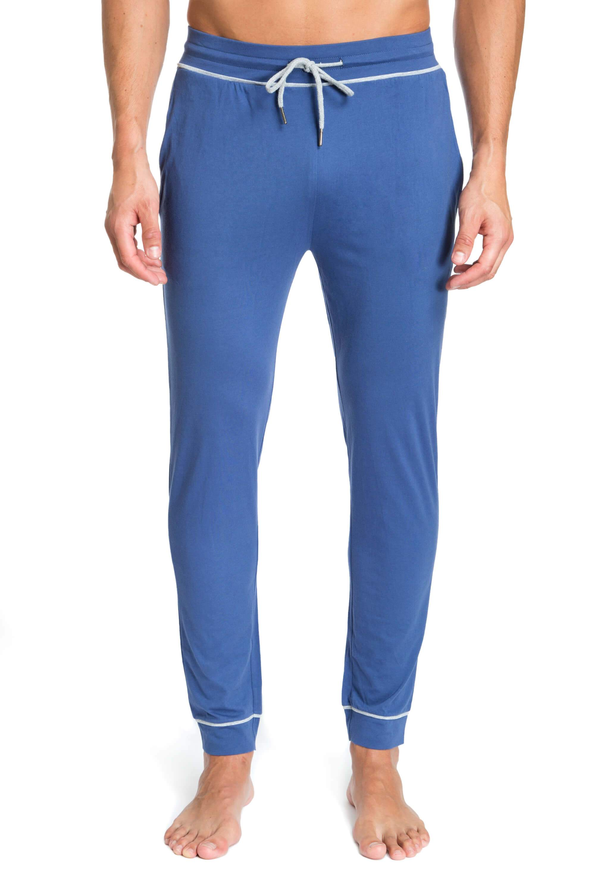 Sky Blue Designer Joggers for Men JLLP1-400 - Front - Jared Lang