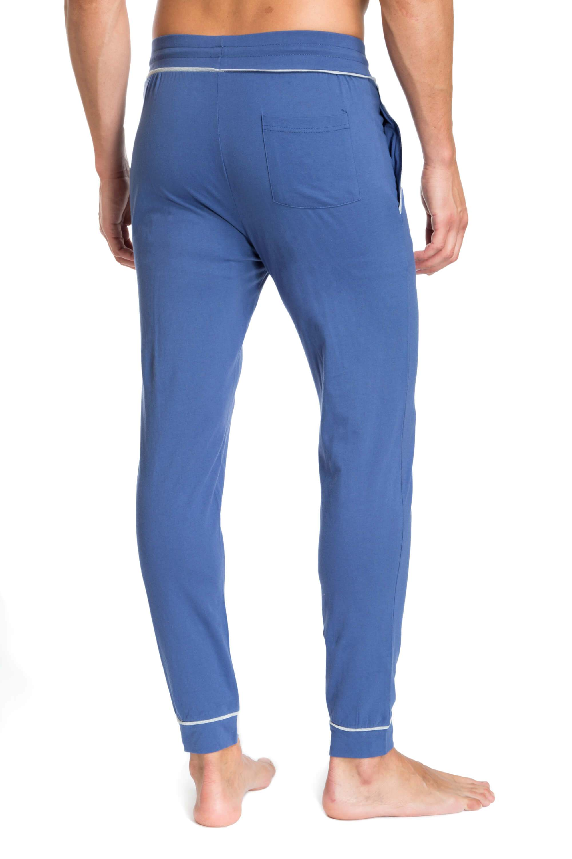 Sky Blue Designer Joggers for Men JLLP1-400 - Back - Jared Lang