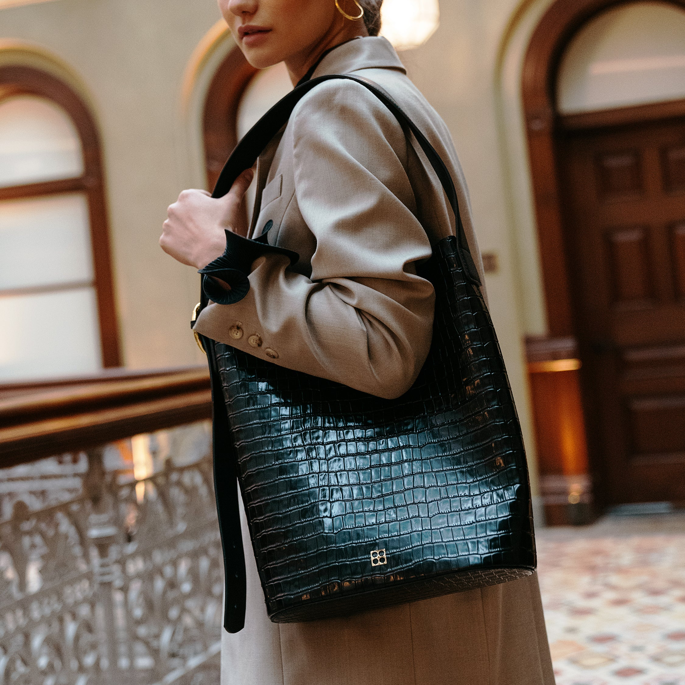 Allured Crocodile Tote Bag