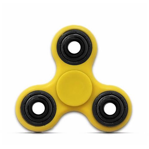yellow hand fidget spinner