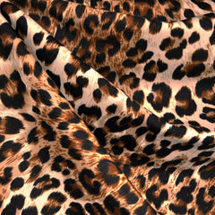 Ponte Knit Cheetah Rust/Natural - Sold Out - Style Maker Fabrics