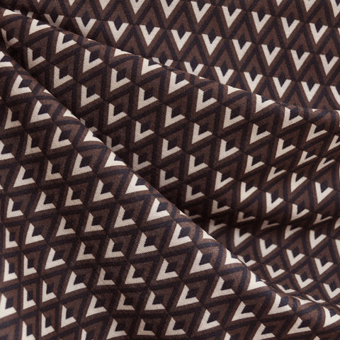 Jersey Knit Diamond Geometric Black/Brown