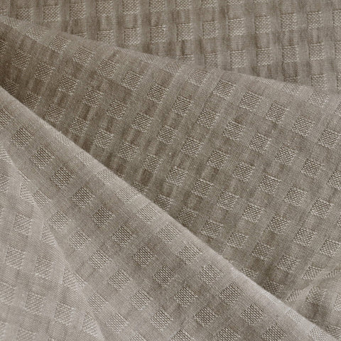 Woven Shirting Plaid Texture Natural