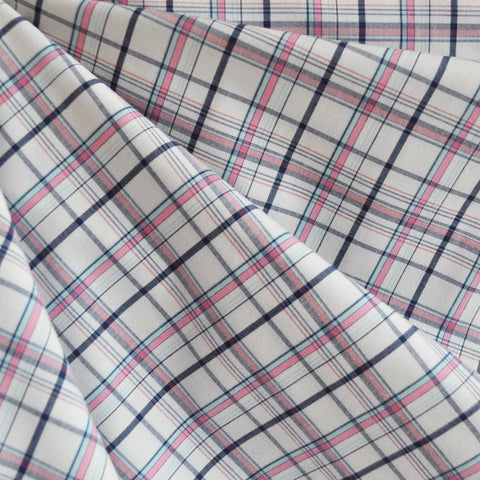 Yarn Dyed Shirting Plaid Pink/Navy