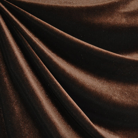 Stretch Velvet Solid Espresso