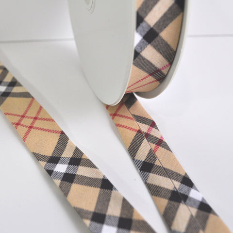 Plaid Printed Bias Tape