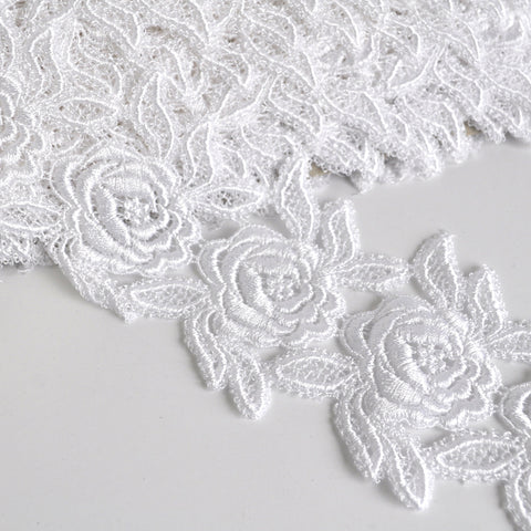 Rose Venise Lace Trim 3-3/4 in