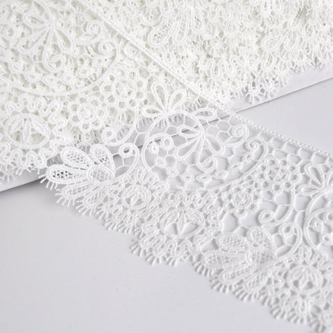 Scroll Paisley Venise Lace Trim Ivory 3 inch