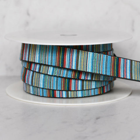 Southwest Stripe Faux Leather Strapping 1 inch