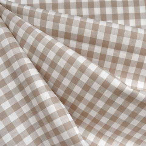 Classic Gingham Mini Check Shirting Sand