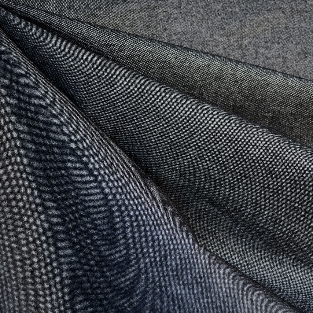 Soft Flannel Chambray Black - Fabric - Style Maker Fabrics