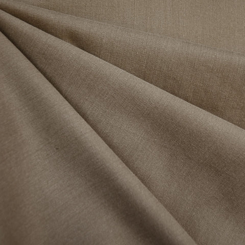 Brushed Cotton Twill Solid Taupe