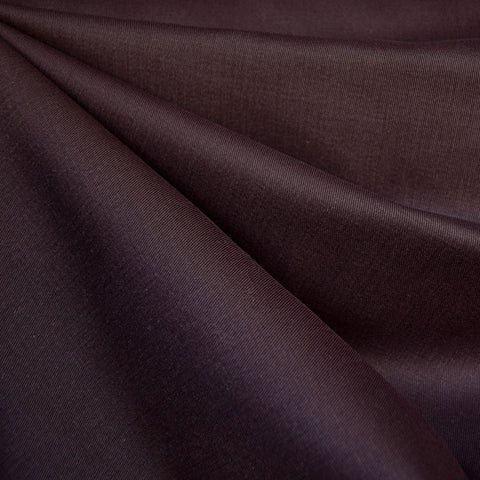 Brushed Cotton Twill Solid Raisin