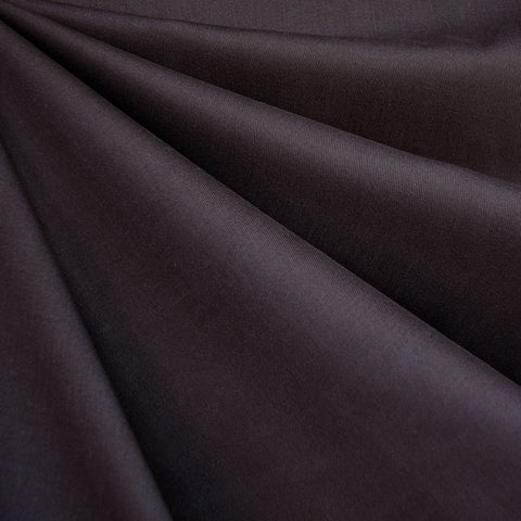 Brushed Cotton Twill Solid Eggplant