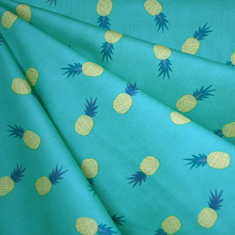 Sun-kissed Pineapples Pima Cotton Jade