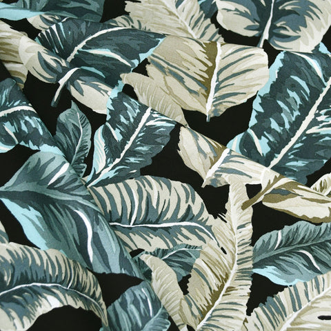 Lush Tropical Leaves Cotton Jungle