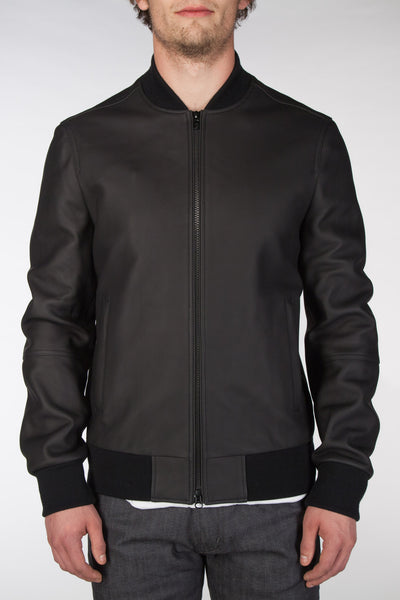 Rubberized Leather Bomber