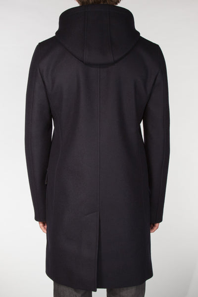 Kaneko Hooded Navy Topcoat
