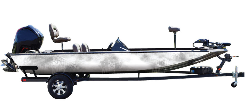 """Chameleon Snow"" Camo Boat Wrap Kit"