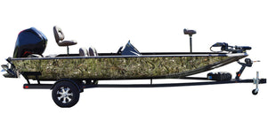 """Bass"" Fish Camo Boat Wrap Kit"