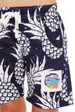 Kids Boardies - Pineapples Navy