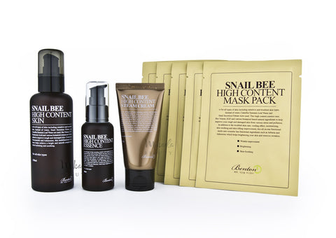 Benton Snail Bee Pack Plus | Toner Essence Cream Mask | Canada & USA