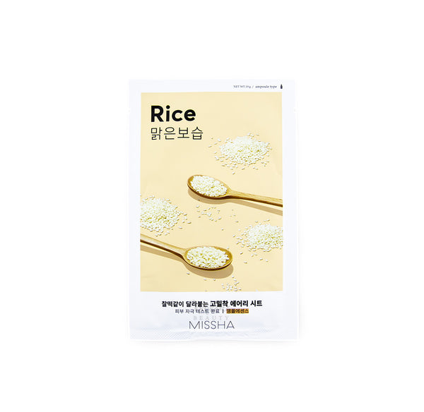 MISSHA Airy Fit Sheet Mask Rice Korean Skincare Canada | Mikaela