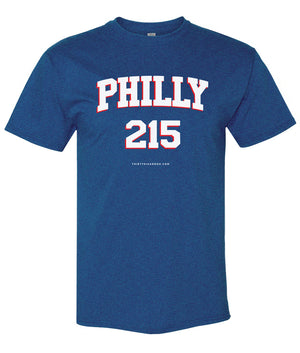 Mens Sixers Philly 215 Area Code T-Shirt - Thirty Six and Oh!