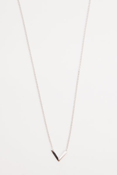 Sterling Silver Mini Angular Necklace