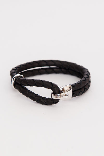 Black Beacon Leather Bracelet