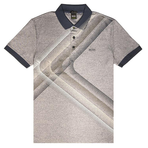 BOSS Athleisure Regular Fit Paddy 4 Polo Shirt in Navy Polo Shirts BOSS