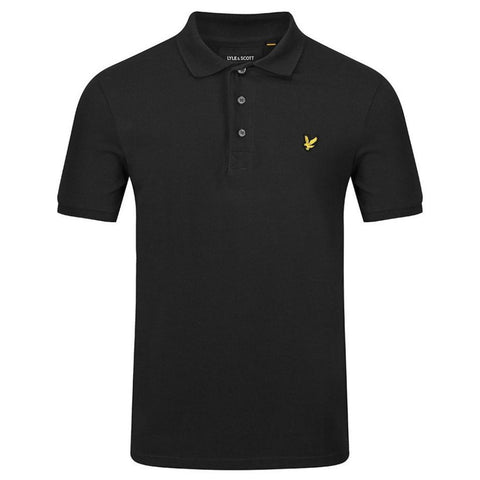 Lyle & Scott Polo Shirt in Black Polo Shirts Edwards Menswear