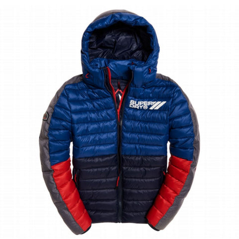 Superdry Block Colour Fuji Zip Padded Jacket in Harbour Navy Coats & Jackets Superdry